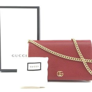 Gucci GG Marmont Red Clutch Purse